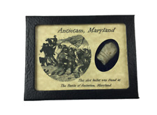 Civil War Bullet Relic from The Battle of Antietam, MD with Display Case and COA