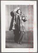 Vintage 1930s Photo Fab Fatale Pretty Girl in Fancy Fur Coat 718523