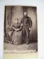 ANTIQUE CABINET CARD VICTORIAN / EDWARDIAN Middle-aged Couple