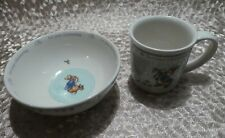 PETER RABBIT WEDGWOOD BOWL AND MUG FOR YOUR CHRISTENING 2002 BEATRIX POTTER