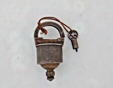 Vintage Handcrafted Unique Iron Tricky Padlock With Original Key India