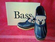 Men's  # 3991-488 Bass Toledo Rubber Waterproof Duck Shoes  Navy/Tan  Size 9 Med