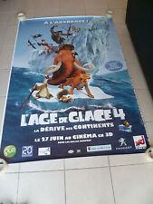 AFFICHE AGE DE GLACE ICE AGE 4  4x6 ft Bus Shelter Original Movie Poster 2012