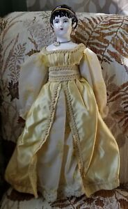 "Vintage Ceramic Low Brow Doll 17"""