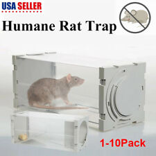 Humane Rat Trap Cage Live Animal Catcher Mouse Pest Rodent Control No Pollution
