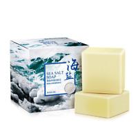 Sea Salt Soap Facial Cleaner Pimple Acne Remover Opens Pores Goat Milk 100g NEW