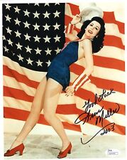 Ann Miller Hand Signed 8x10 Color Photo Best Pose Ever Gorgeous Jsa