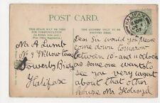 Mr. A. Lumb, 9 Willow Terrace, Sowerby Bridge, Halifax 1907 Postcard, B086