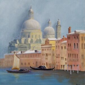 Original oil painting by Paul Johnson. 'Winter in Venice'
