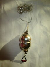 Gorgeous delicate antique Christmas tree ornament/Tinsel,  Glass-