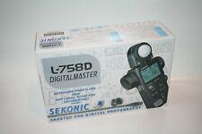 Sekonic L-758D DigitalMaster Spot & Flash Light Meter Boxed Mint