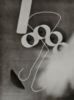1928/75 Vintage MAN RAY Rayograph Tubes Wire Photogram Abstract Photo Art 12x16