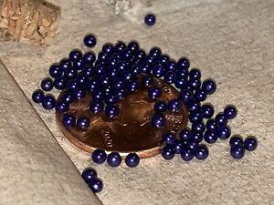 Miniature Jar Of Tiny Micro Marbles, Beautiful Color Purple.