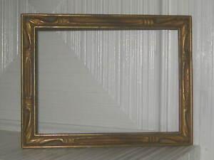 Art Deco Lovely Gold Gilt Wood Carved Picture Frame