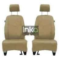 Land Rover Discovery 3 Front INKA Tailored Waterproof Seat Covers Beige L319