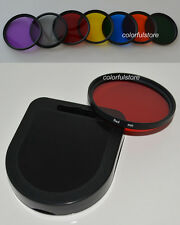 67 67mm 7 Full Color Colour Red Purple Green Orange Yellow Blue Grey Lens Filter