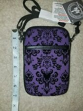 NEW Disney Haunted Mansion Purple Wallpaper Smartphone Cell Phone Case w/ Strap