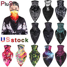 Outdoor Ice Silk Sports Bandana Triangle Face Scarf Neck Hanging Face Cover US