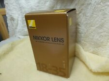 *BOX* only         Nikon 18-35mm f3.5-4.5 AF-S ED G EMPTY BOX ONLY