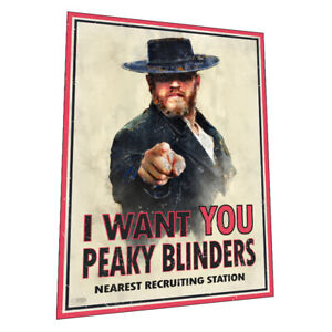 """The Birmingham Peaky Blinders - """" We Want You"""" wall art - Graphic Art Poster"""