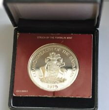 BAHAMAS TEN DOLLAR INDEPENDENCE DAY 1975 SILVER PROOF with BOX and COA