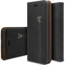 Luxus Handy Tasche Schutz Hülle Case Silikon Bumper PU Leder Für Samsung Apple