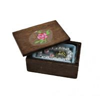 Puppenhaus Voll Holz Schmuck Box 1:12 Schlafzimmer Schminktisch Zubehör