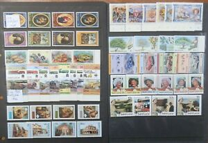 St LUCIA Selection of 11 fine MNH Unmounted Mint Sets Specimen sets noted