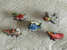 5 PCS PLANES SHOE CHARMS PLANE & HELICOPTER SHOE CHARMS PLANES CLOG CHARMS