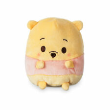 """DISNEY STORE POOH UFUFY PLUSH SMALL 4 1/2"""" APPLE BLOSSOM SCENTED SITS UPRIGHT"""