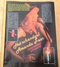 AMANDA LEAR Belgian magazine PHOTO/Poster/clipping 11x8 inches