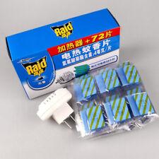 1set 72Pcs 12hrs Refill Mosquito Mats +Electric Repeller killer Repellent Heater