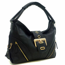 New Dasein Women Handbag Leather Hobo Satchel Shoulder Bag Tote Travel Day Purse