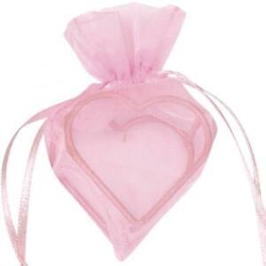 Herz Organzabeutel für Hochzeit Gastgeschenke Hochzeitsmandeln rosa 24 Stück