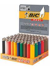 50 Accendini BIC MAXI J26 colorati pietrina grandi - Scatola Box Sigillato