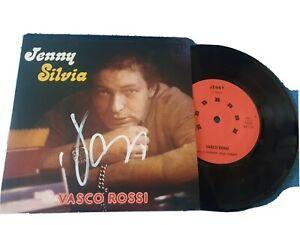 Vasco Rossi Jenny Silvia 45 Giri Numerato  Autografato di persona!!vedi foto!