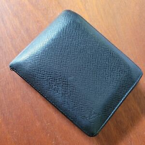 Louis Vuitton Taiga Bifold Leather Wallet (Men's) - Card Holder - Used Condition