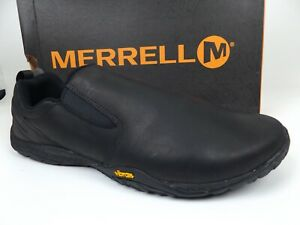 MERRELL Trail Glove 4 Luna Sneakers Slip On Men's SZ 15.0 M, Black Leather 18132
