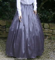 Ladies SKIRT Victorian / Edwardian costume gentry fancy dress ,(grey)