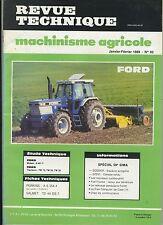 (3B)REVUE TECHNIQUE MACHINISME AGRICOLE TRACTEUR FORD / PERKINS / VALMET