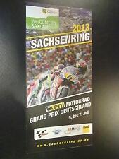 2013 Sachsenring, Eni Motorrad Grand Prix Deutschland 5. bis 7. Juli Flyer