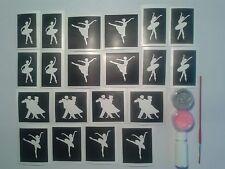 Dancer glitter tattoo set for girls ballet  incl, colours, glue, brush children