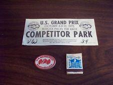 F1 '76 Watkins Glen Grand-Prix Windshield Competitor Park Pass, Magnet & Matches