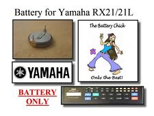Battery for Yamaha RX21 / 21L Drum Machine - Internal Memory Replacement Battery