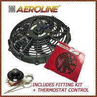 "12"" Aeroline® 120w 12v Electric Radiator Cooling Fan + Thermostat Fits KIT CAR"