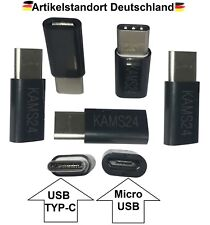 Adattatore 5er tipo C 3.1 a Micro USB Tablet Spina Cavo Di Carico Nero CONVERTITORE