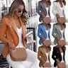 Plus Size Women's Collar Blazer Suit Thin Jacket Ladies Formal Coat Cardigan Top