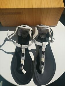Women's Genuine leather Shoes. Sole Society. Sandals, black and white. Size 40