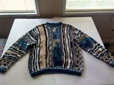 Vintage Tundra Sweater Coogi Style Biggie Cosby  Large 100% Cotton