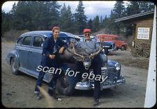 1955 Kodachrome Slide Teenage Elk Hunters Colorado